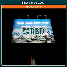 Solar energy cheap steel advertising light board led