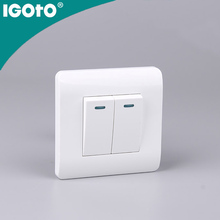 IGOTO European standard 2 g 1 way switch with light smart home wall socket european standard wireless wifi wall socket