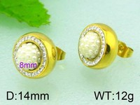 2015 Kalen cuff earrings gold plating different color ball earrings