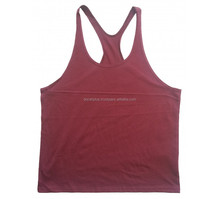 100% cotton gym y back men training bodybuilding stringer tank tops