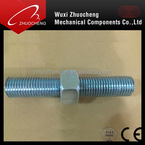 zinc plated 4.8 thread rod with nut