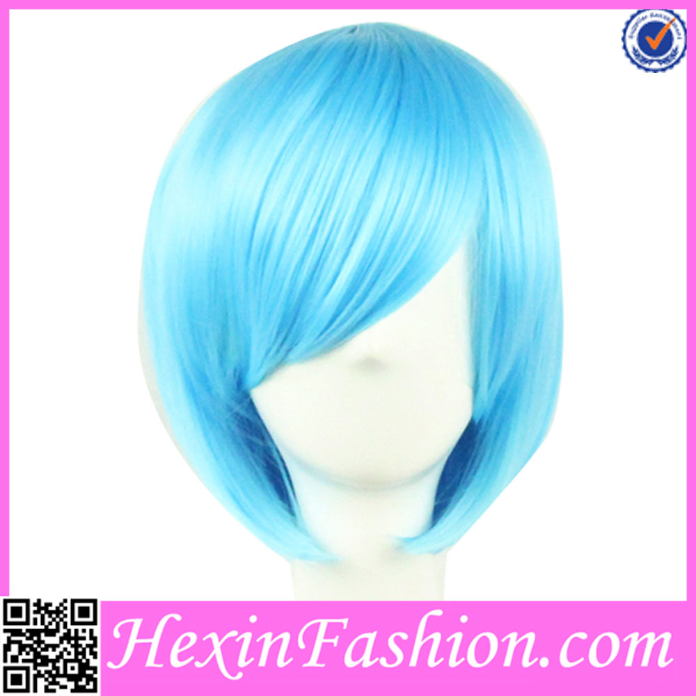 2016 Eco-friendly Fiber Blue Crazy Color Wigs Wholesale