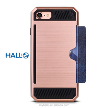 Holder Protective Hybrid Phone Case armor case card slot case for iphone 7