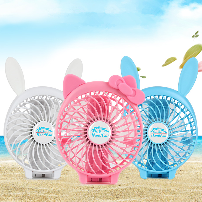 Cartoon Portable Battery Rechargeable USB Electrical Folding Table Mini Custom Hand Fan for Kids