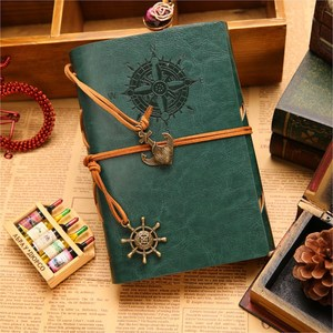 New Design Retro Leather Blank Cover Spiral Notebook For Sale