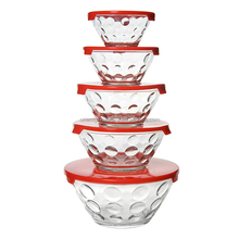 High quality 5 pcs glass bowl set