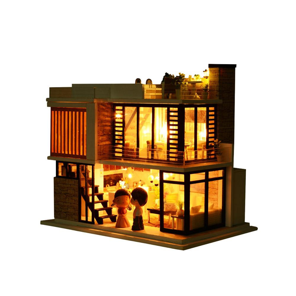 Diy Wooden Dollhouse Miniature Handmade Wooden Music Boxes Top