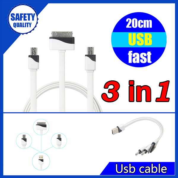 White and black fashional designed for iphone 4s charger cable