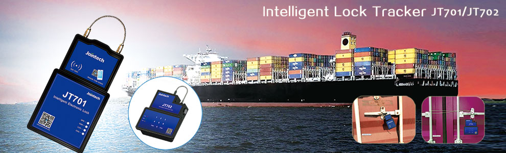 Intelligent gps electronic cargo seal JT701 with gps tracker for live tracking and cargo control