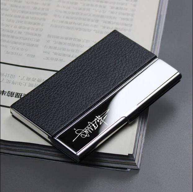 High quality square metal credit card business card holder