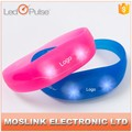 Cheap Custom Flashing Rainbow Silicone Wristband Custom Wristband Cheap With LED Light
