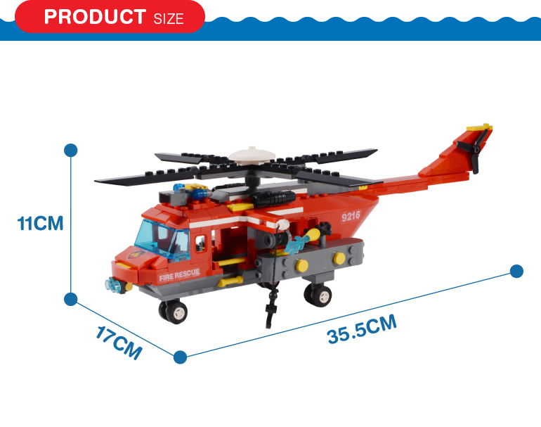 374 pcs building blocks fire rescue team self assemble toy educational toys for kids