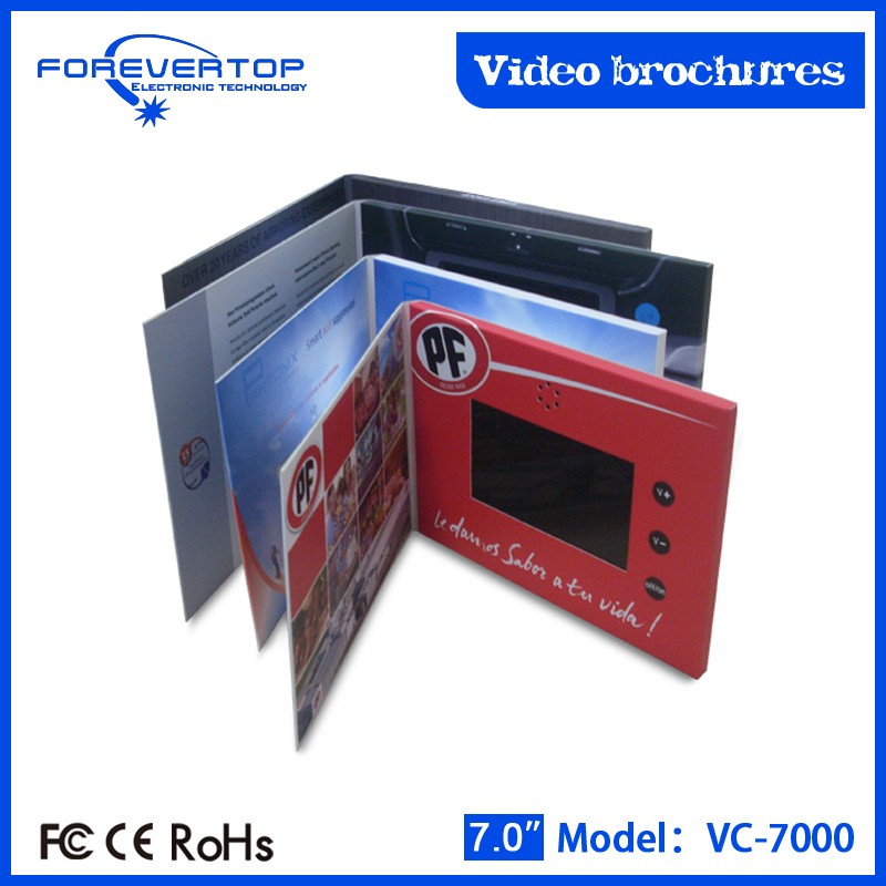 Hot sale 7inch tft video brochure