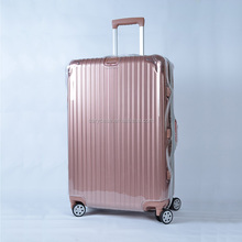 No need to remove PVC zipper transparent protective wear travel luggage trolley case covers