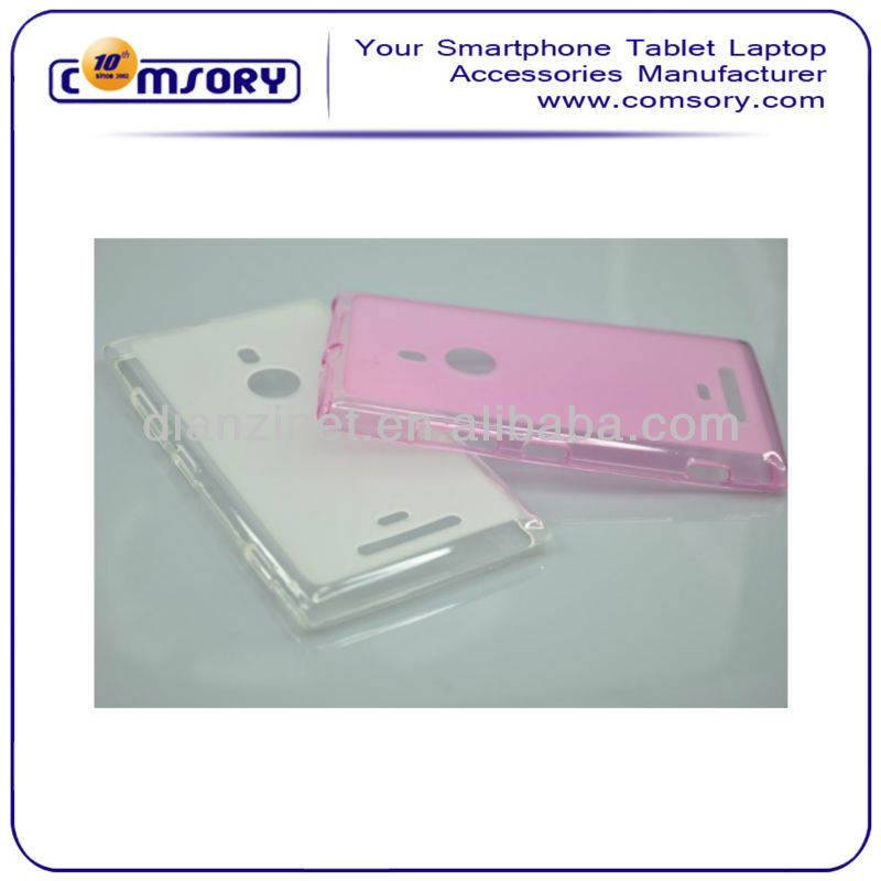 Soft & Semi Transparent phone case For Nokia Lumia 925 Paypal Acceptable