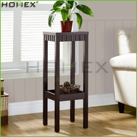 2 Tier Wooden Plant Stand in Coffee Color/Homex_FSC/BSCI Factory
