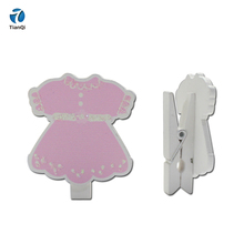 Top selling cute wooden craft clip for kids room decoration