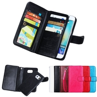 Multifunction 2 in 1 Magnetic Detachable Leather Wallet Mobile Phone case for Smaung Galaxy S6 Edge with Card slot&Stand Feature
