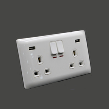 Universal USB 13a multi double 3 pin 2 gang usb wall socket with best price