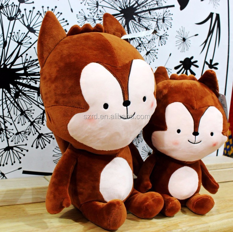 Customed lovers animals plush toy famous the wolf gentleman and a white rabbit plush toy for gifts