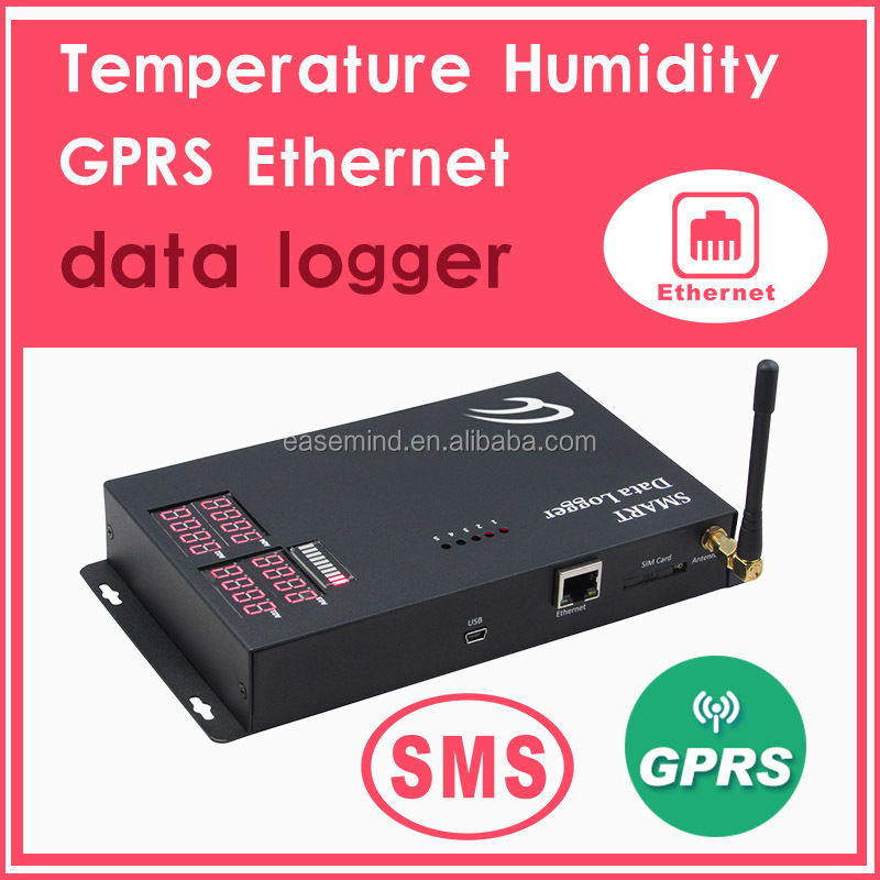 Temperature Humidity z wave sensor GPRS Ethernet pulse counter data logger