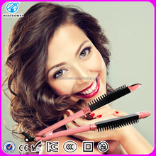 2 in 1 Hair Curler Electric Ionic Pink Hair Brush