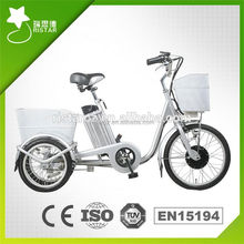 3 wheel motorized electric bike for disabled and old man