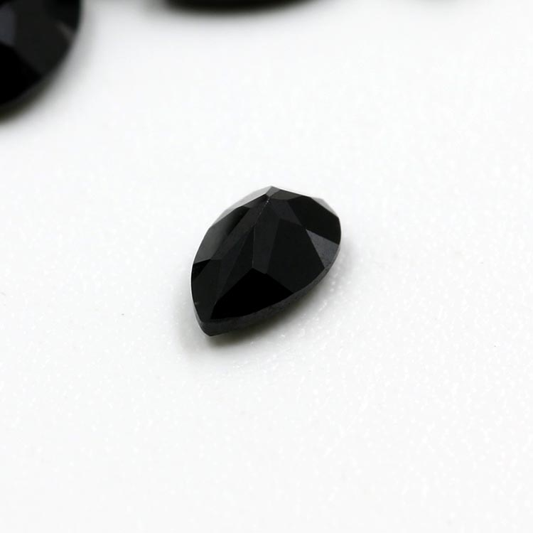 3*5mm pear shape natural black spinel necklace loose gemstone