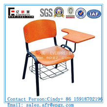 Cheap Student Exam Chair with Tablet,Wood Classroom Chair with Padded Plywood School Chair Furniture Seat of