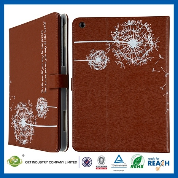 New Mobile Phone Accessories wholesale stand leather case cover for apple ipad mini