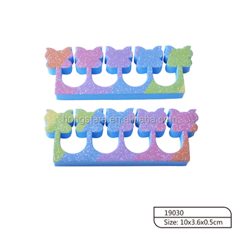 colorful flower shape toe sponge toe separator