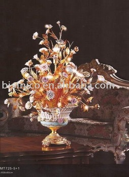 bronze table lamp, glass lamp