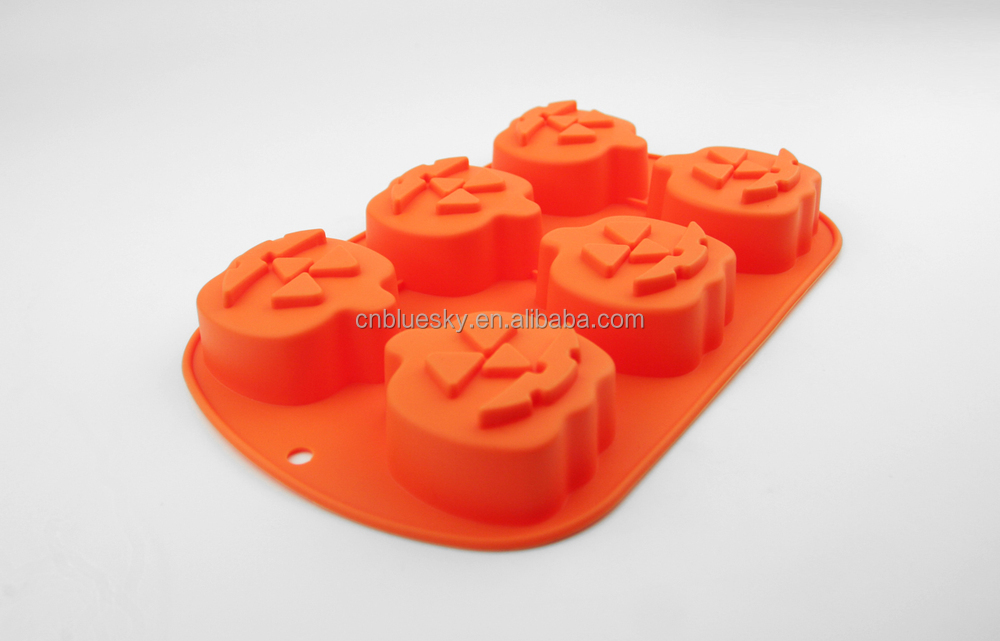 Cute pumpkin Shape Silicone Cake Baking Molds For Microware Cake