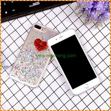 Hot Accessories New Products Heart-shaped Glitter Mobile Phone Case For iPhone 7 7 plus