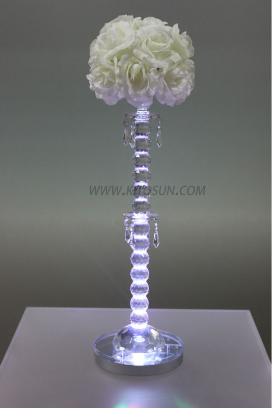 Multi Vase Centerpiece : Rechargeable remote controlled w multi colors led glass