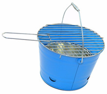 BBQ Outdoor Barbecue Bucket Portable Charcoal Camping Grill Festival Fire