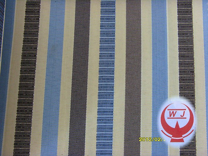300D polyester vertical stripe fabric for bags/chair cover/ upholstery from suzhou