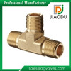 china manufacturer competitive price best sale 3mm male threaded npt forged cw617n brass pipe tee fitting
