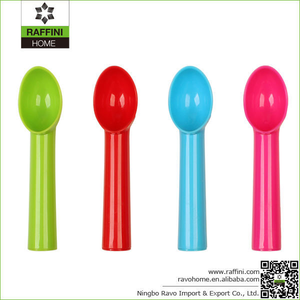 Food quality and colorful plastic ice cream scoop