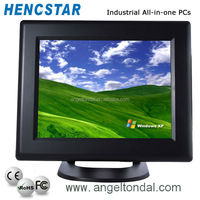 15 inch fanless industrial touch screen all in one pc with barcode