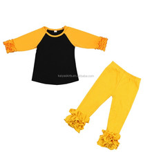 High Quality Wholesale Kid Boutique Clothing Baby Clothes 1 Set Children Girls Long sleeve Fall Clothes