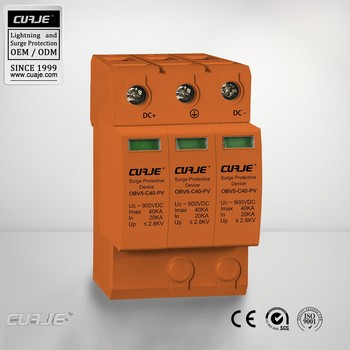 CE approved 900VDC surge protective device Photovoltaic arrester lightning