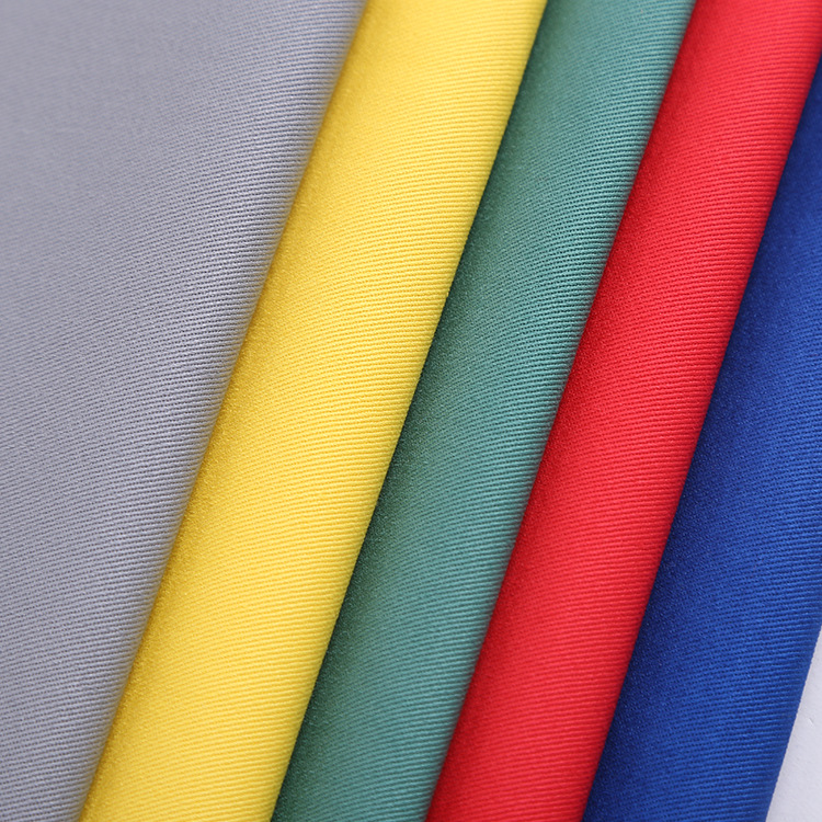 Alibaba textile 65 polyester 35 cotton dyed twill woven TC workwear fabric for trousers