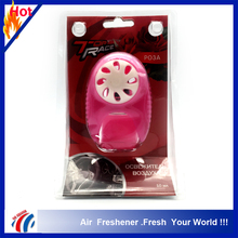 10ml pink bottle perfume car vent clips air freshener /factory wholesale car air freshener long lasting