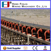 High Load Capacity Carbon Steel Belt Conveyor Carrying Idler For Supporting