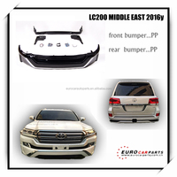 NEW Arrival !! LC200 body kits fit for LC200 to Middle East style black color 2016y~ style PP front bumper and rear bumper