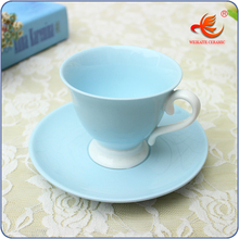 WKT022B fine bone china custom printed cafe tea <strong>cups</strong> and saucers wholesale