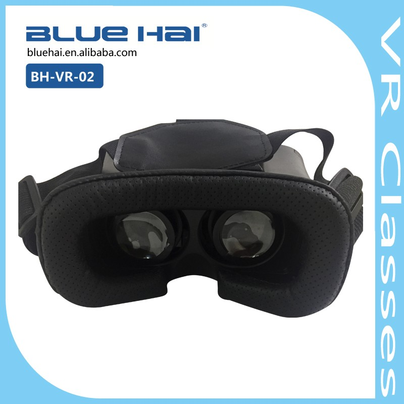 "4.0-6.0"" Smartphone Cardboard VR Viewer,Plastic 2nd Generation 3D VR Box with Remote Vr 3D Glasses For Smartphone"