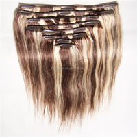 Manufacturers Looking For Distributors New Product Full Fix Hair, Virgin Brazilian Remy Clip-In Hair Extensions