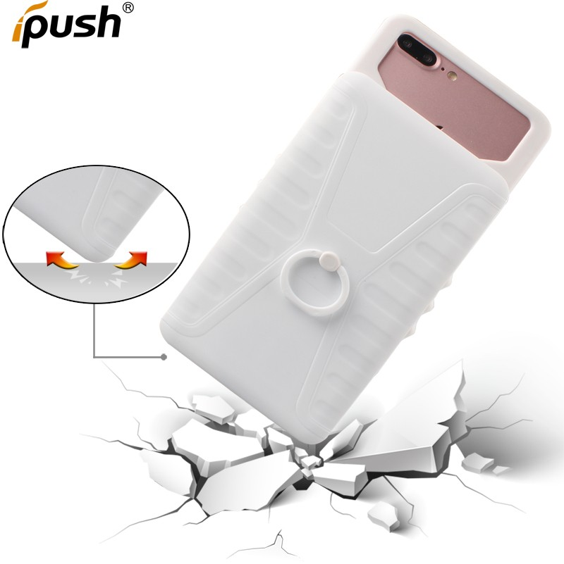 Universal Compatible brand PC TPU back cover case for 5.5 inch with ring stand